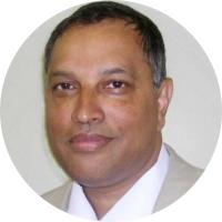 Dr Barry Kistnasamy (white)