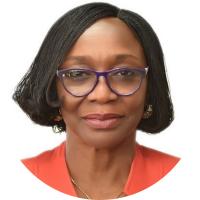 Prof Folasade Ogunsola (white)